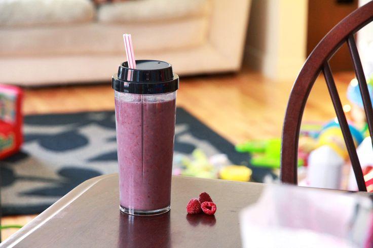 Un smoothie pour commencer la journée du bon pied mamanszen.com