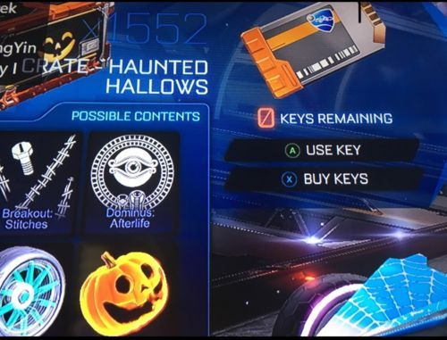 Rocket League 1,500x HALLOWEEN CRATES Item Xbox One[SALE!]: $435.00 End Date: Saturday Jan-6-2018 20:09:09 PST Buy It Now for only: $435.00…