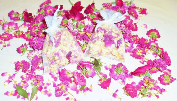 Sachet Rose Rose Potpourri Sachet Lingerie by FourDirectionsLight