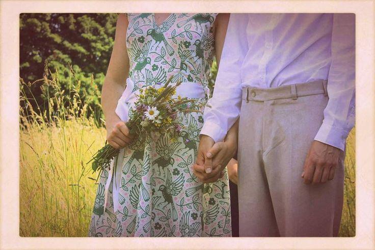 nontraditional wedding dress, eco-wedding