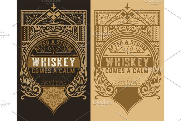 Set of 2 labels by OneVectorStock on @creativemarket
