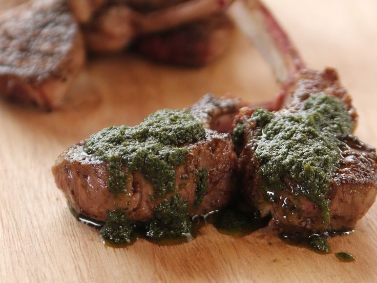 Lamb Chops with Mint Sauce recipe from Ree Drummond via Food Network