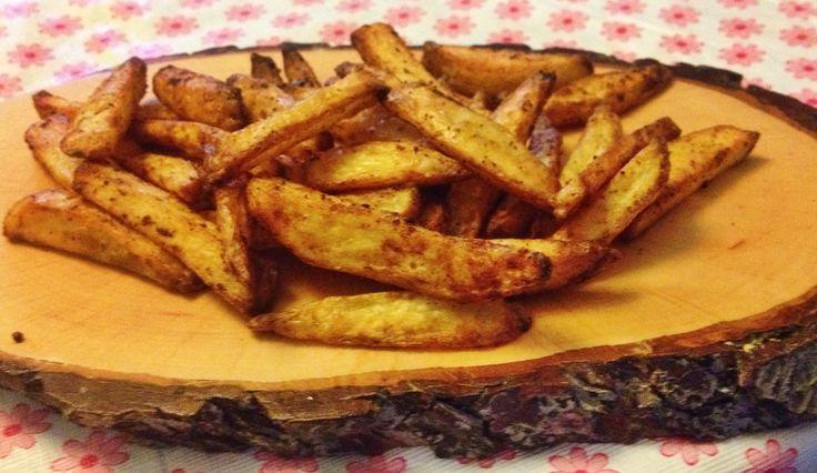 Zelfgemaakte gekruide frietjes uit de Airfryer