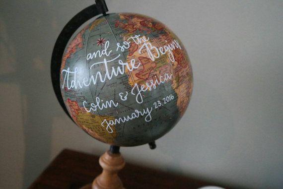 Custom Globe / Painted Globe / Hand Painted by WolfAndWanderDesign