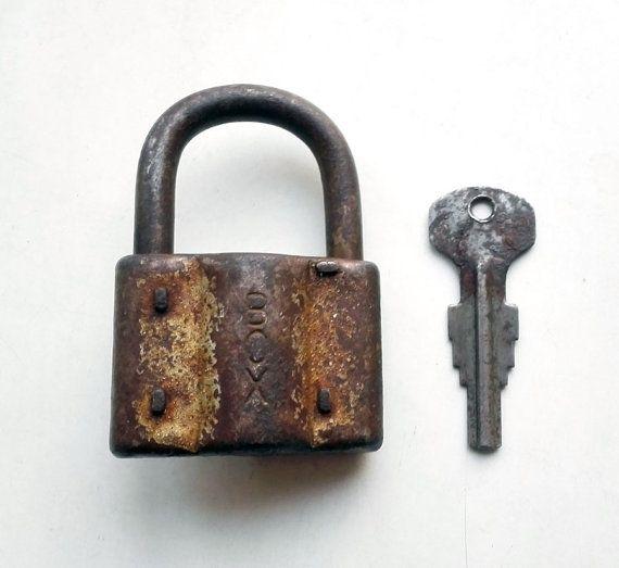 Vintage padlock with key (#28)