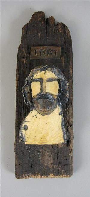 Sculpture of Stoneware mounted on Wood
