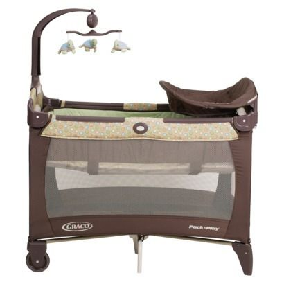 Graco Pack n' Play - Little Wonders: Removable full sized bassinet, changing table, portable bed and play yard all in one. Comes with a windup mobile, quilted mattress pad and carrying bag. $77.85 #Pack_n_Play #Graco #Baby_Equipment