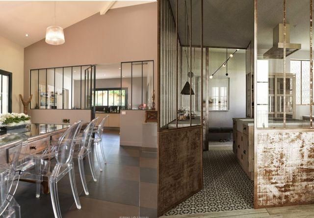 16 cloison verriere separation piece style atelier deco interieur e1408363332954 20 inspirations pour une cloison verrière