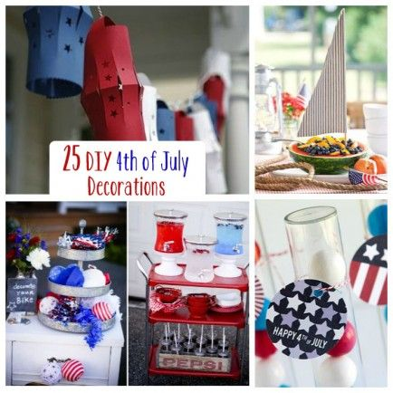 Patriotic Party: 25 DIY 4th of July Decorations  Inspiration