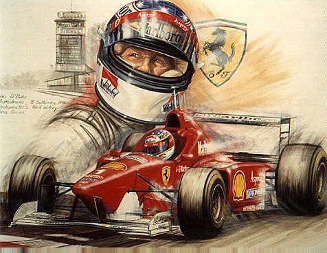 Michael Schumacher   Ferrari 1996 Artwork