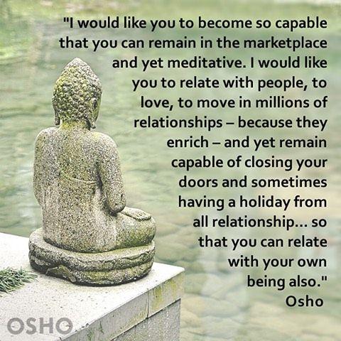 760 vind-ik-leuks, 5 reacties - OSHO International (@oshointernational) op Instagram: 'Discover how to become 'Zorba the Buddha' osho.com/LivingIn #OSHO #meditation #quotes'