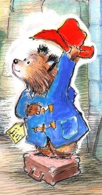 Paddington bear illustration by R.W. Alley