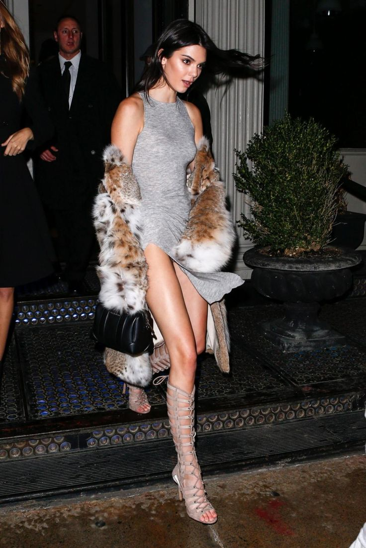 It looks like she wasn't prepared for a snowy, windy New York City night! Supermodel Kendall Jenner exposed a bit…