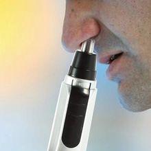 1 pc Puro Limpo Trimer Barbeador Elétrico Aparador de Pêlos Do Nariz Ouvido Rosto aparador de pelos de Remoção de Barbear masculino pelo nariz NO1 alishoppbrasil