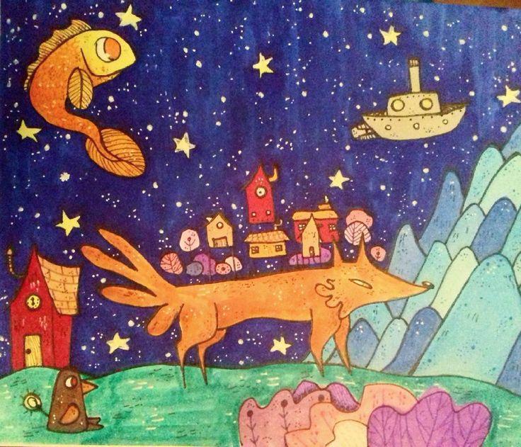 "19 Me gusta, 1 comentarios - Ñaña (@ferniska) en Instagram: ""#doodle #dibujo #draw #copic #copicmarker #childrensillustration #children_illustration…"""
