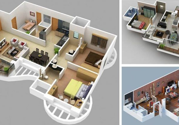 Small House Plan Designed To Be Build In 70 Square Meters My Home My Zone Small House Design Plans Home Design Plans Small House Plan