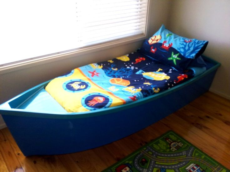how to make a toddler boat bed