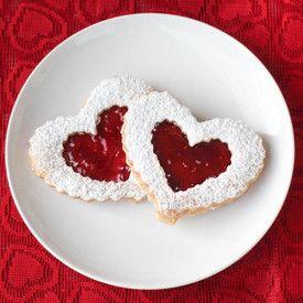 Valentine's Day Linzer Cookies | Food | Pinterest