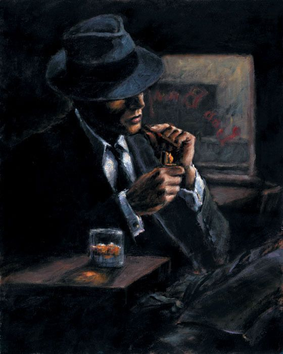 Fabian Perez - Study For Whiskey At Las Brujas II