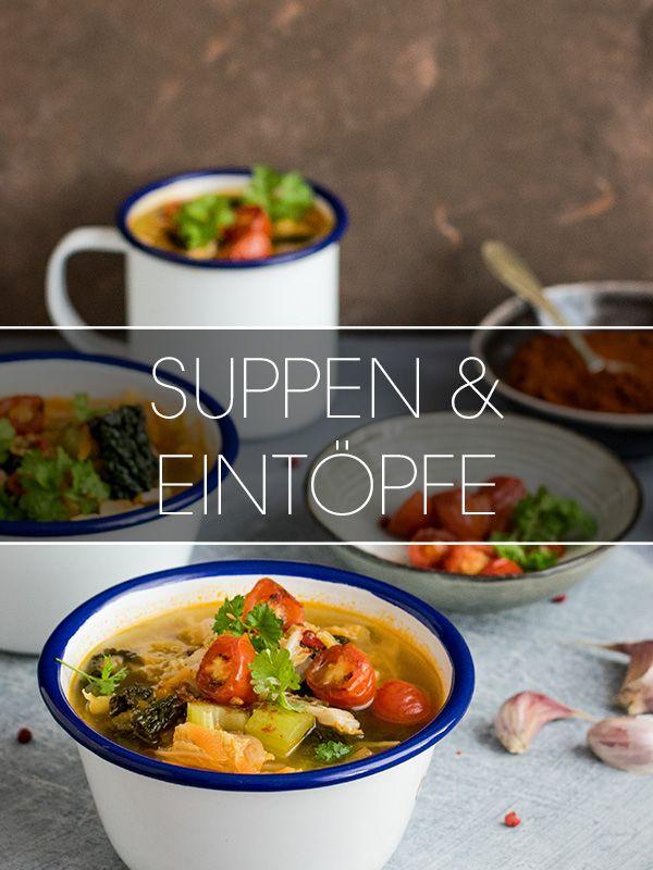 Da geht das Suppen-Herz auf: Ob leichte, frische Suppen im Sommer oder vollwertige Eintöpfe im Winter - hier bleiben keine Wünsche für Suppenkasper offen ;)