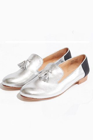 Vanishing Elephant Loafers - Silver Metallic/Black Patent – Eclectic Ladyland