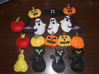Halloween felt decorations.  Őszi díszek filcből .