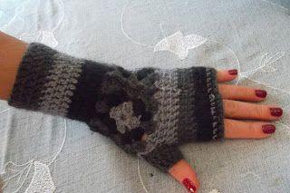 guanti senza dita fatti ad uncinetto