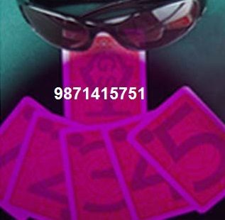 Get variety of plastic paper made spy cheating gambling cards in Delhi with secret invisible markings printed on the backside. These invisible markings are clearly visible through the soft contact lenses and spy glasses under all lighting conditions. To get more details: http://www.rsjkspycardshop.in/