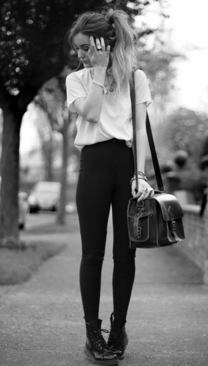 black and white - high waisted