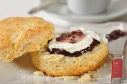 Next on my scone baking list - Cream Scones have a lovely crisp crust with a rich buttery flavor and light and fluffy texture. They are delicious cut in half and served with Devonshire Cream and either jam or lemon curd.