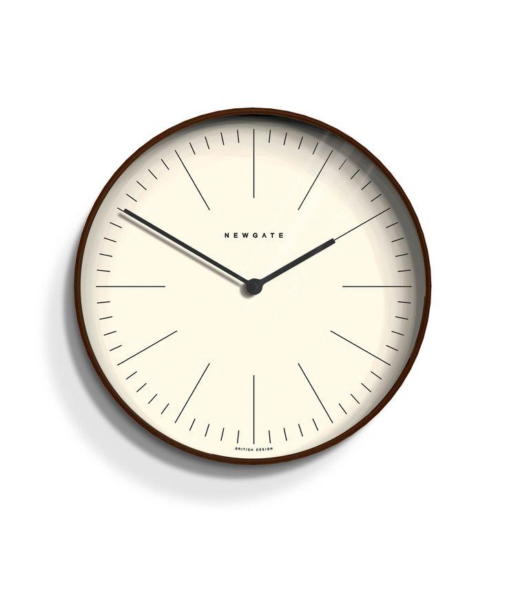 We think the Newgate Mr Clarke dark wood minimalist wall clock is a really nice elegant clock. Its timeless appeal makes it a classic design