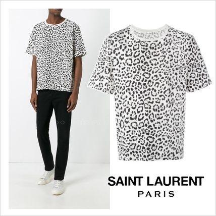●2017SS●人気●Saint Laurent  レオパードプリント Tシャツサンローラン 2017 ファッション