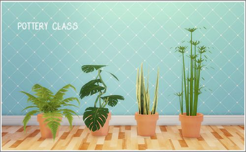 Pottery class plant conversions TS2-TS4    Credit: Wood for sims, Keoni, Amaryll