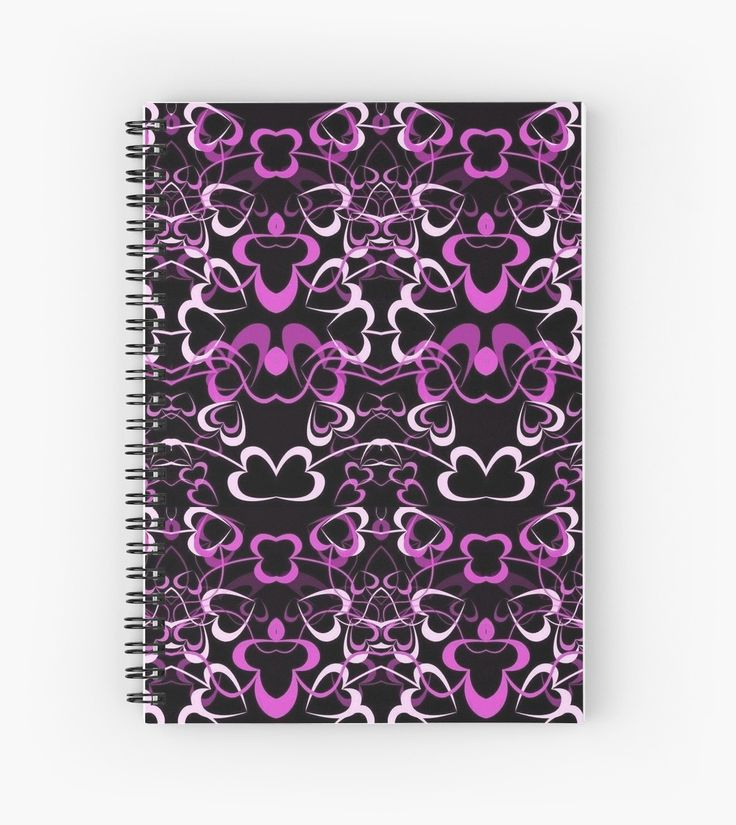 Pink Tangled Hearts Pattern l Hardcover Journal also available.