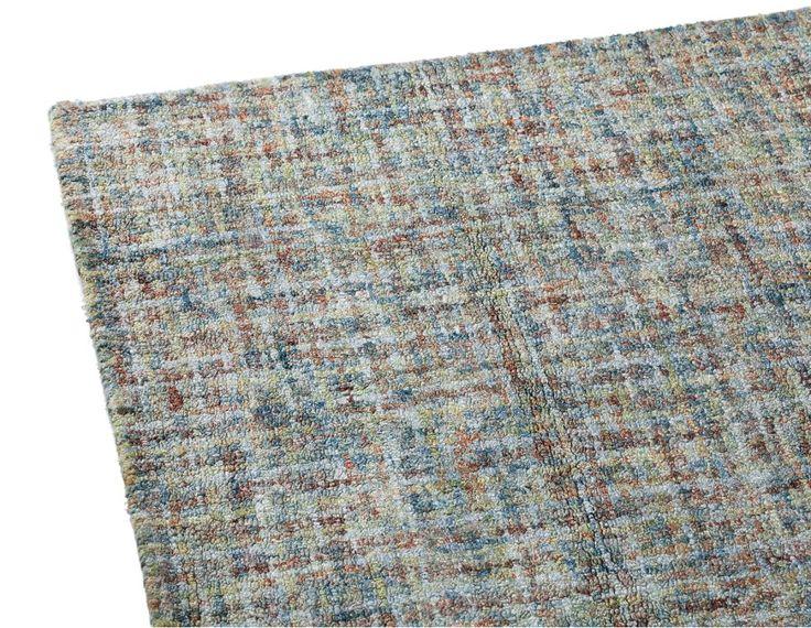 DAYLA - Hand made viscose rug 6' x 9' - Teal