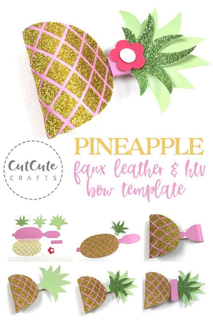 Pink Pineapple Bow    Vinyl Pineapple   Vinyl Pineapple Hairbow   Pineapple Birthday Hairbow  Pineapple Hairbow  Pineapple Boutique Bow