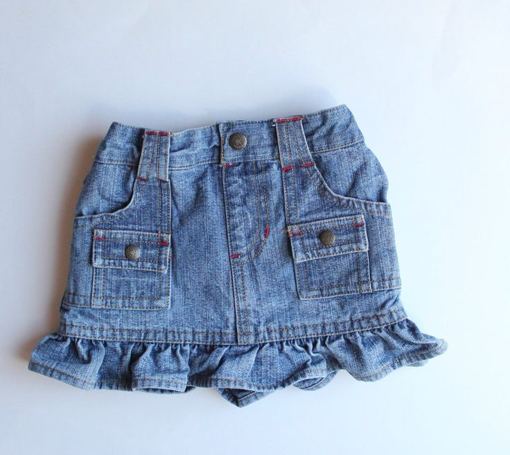 Baby Girl Denim Skirt by Tommy Hilfiger, Size 3-6 Months.  Buy Resale and Save!