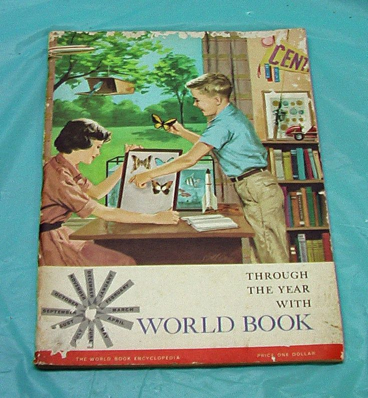World Book Encyclopedia Through The Year Soft Cover Book 1960 Vintage Children