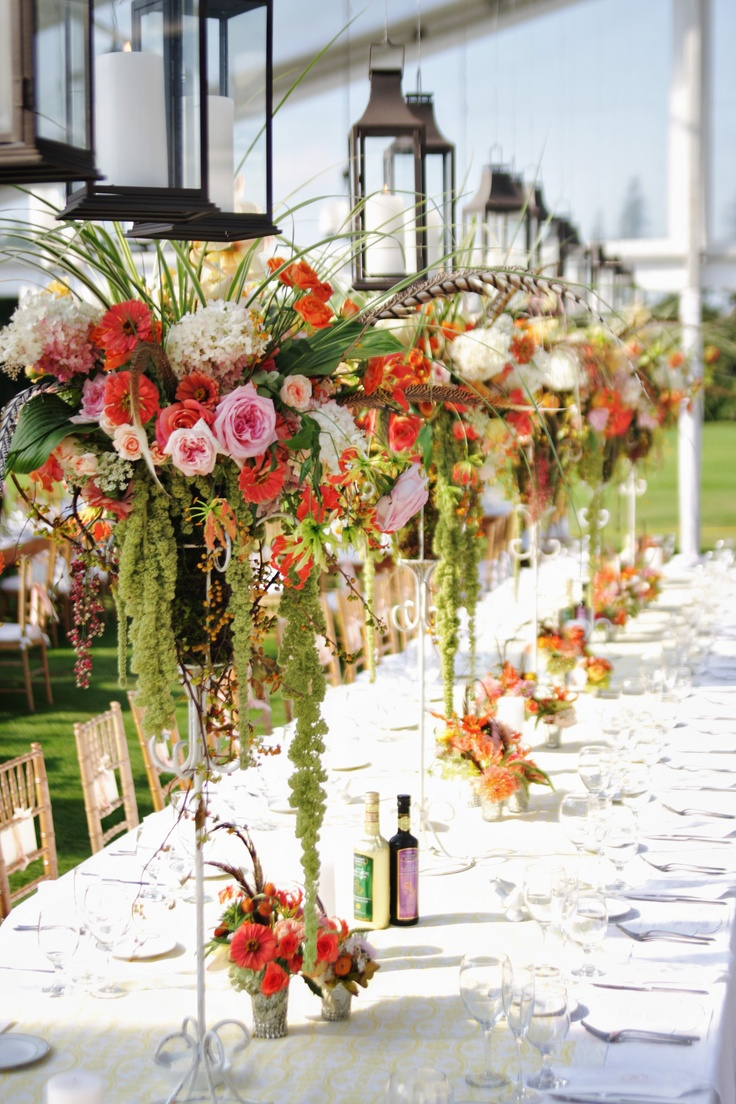 Lanterns and Flowers / Wedding Design and Planning by Simply Beautiful Events