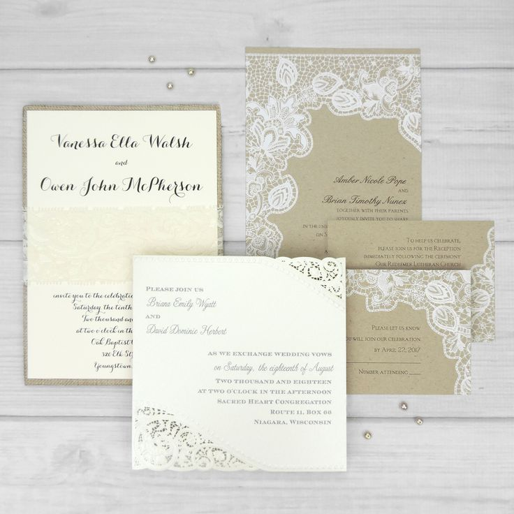 Lace Wedding Invitations Come In All Shapes And Sizes From Real Wraps To Printed