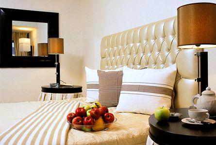 bedcover,pillows,hotel PLAZZA RESORT ANABYSOS greece