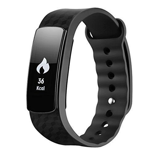 Pulsera inteligente,  Mpow Smart Fitness Tracker seguimiento de actividad Deporte pulsera podómetro monitor de sueño pantalla táctil resistente al agua reloj inteligente para Android y iOS Teléfonos Inteligentes como iPhone 77Plus 6S 55S se, Huawei, LG, Sony, Negro