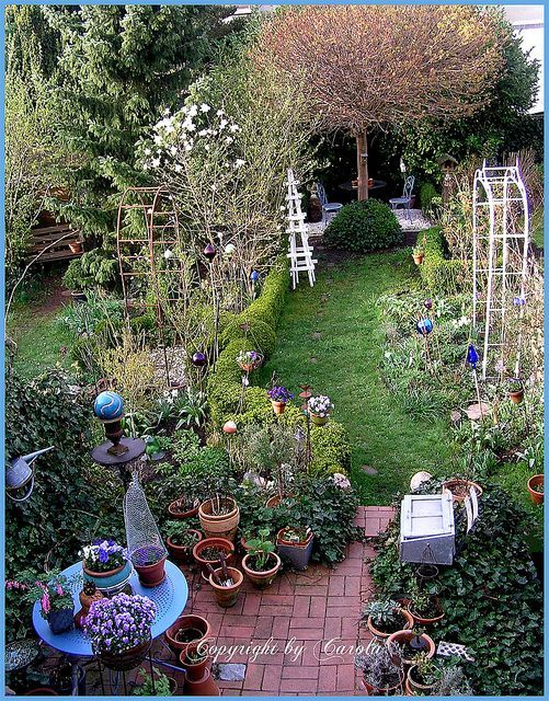 birds eye view by boxwoodcottage via flickr garden design