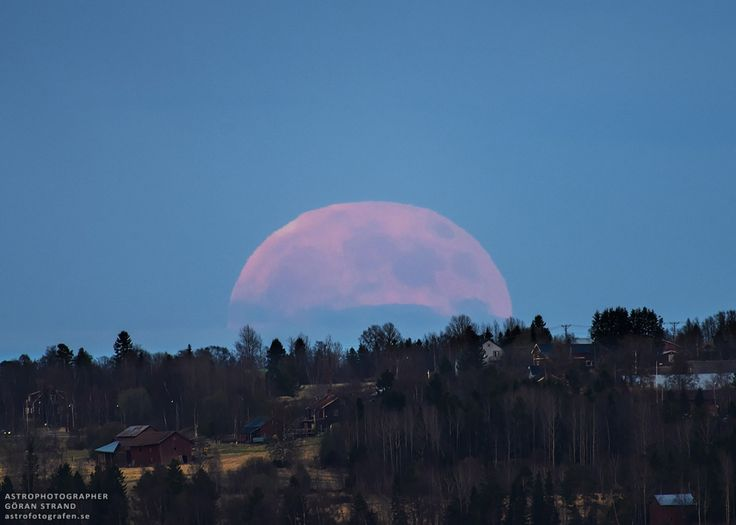 A Strawberry Moon Image Credit  Copyright: Göran Strand