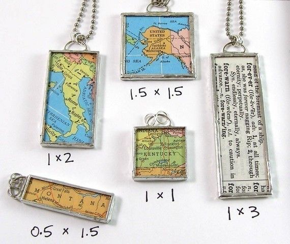 Custom Map Pendant - Choose a map and size $27