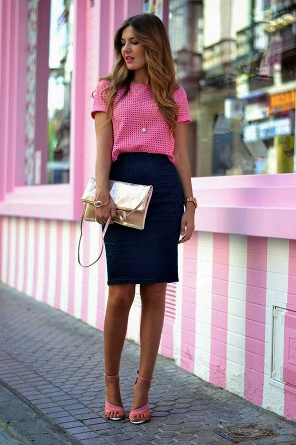 Gorgeous Skirt Work Outfits For Office Women (33)