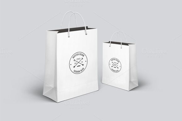 Realistic Shopping Bag Mockup - Product Mockups - 1