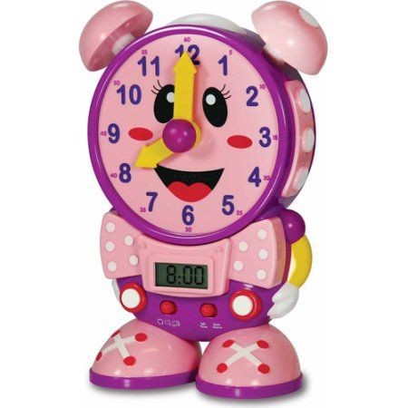 The Learning Journey Telly The Teaching Time Clock, Pink Color Design, Multicolor