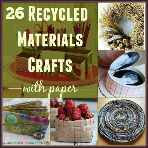 26 Recycled Materials Crafts with Paper | Go green with these incredible paper craft upcycling ideas!