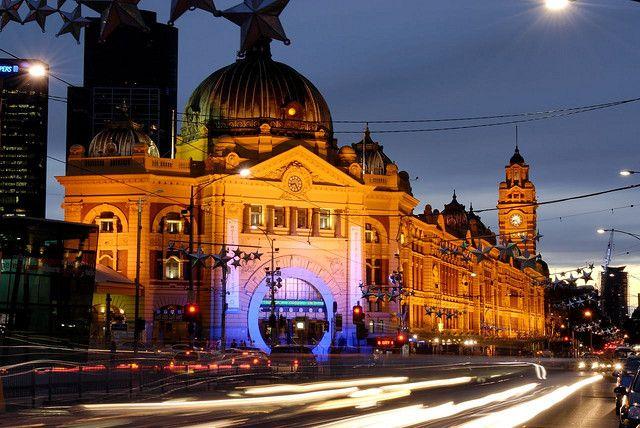 Вокзал Флиндерс-Санкт. Мельбурн. Австралия